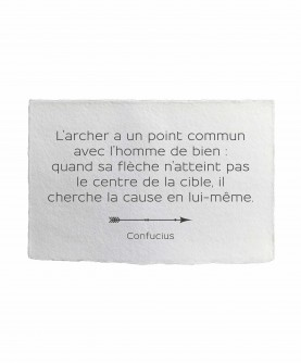 Carte citation inspirante 1 : L'archer Confucius