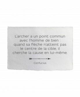 Carte citation inspirante 1 : L'archer Confucius