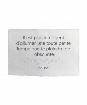 Inspirational Quote Card 3 : Lao Tseu