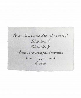 Carte citation inspirante 4 : Ce que tu veux dire... Socrate