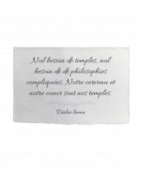 Carte citation inspirante 6 : Nul besoin de temples Dalaï Lama