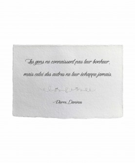 Inspirational Quote Card 7 : P. Daninos