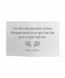 Carte citation inspirante 12 : Maître Eckhart