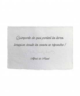 Carte citation inspirante 17 : A. de Musset