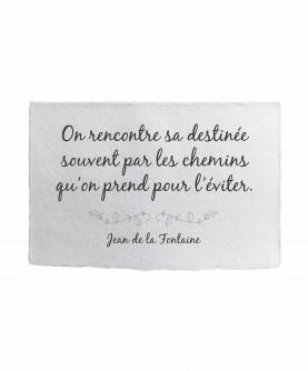 Inspirational Quote Card 18 : J. de la Fontaine